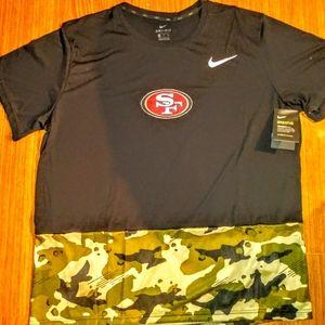 Nike Dri Fit Breath Camo 49ers Custom Dri Fit Tee